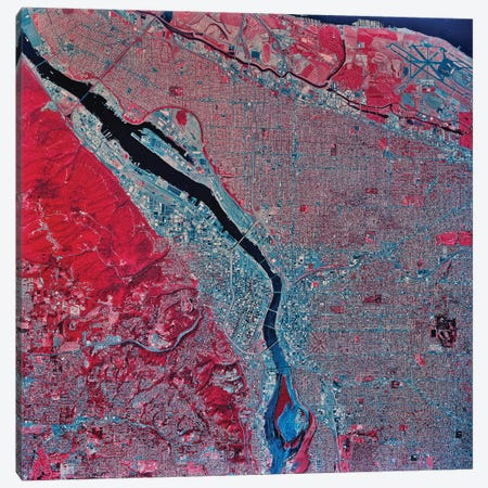 Portland, Oregon Canvas Print #TRK1615} by Stocktrek Images Canvas Wall Art
