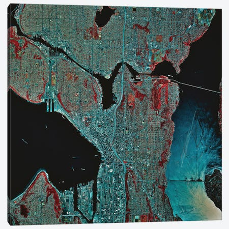Seattle, Washington Canvas Print #TRK1626} by Stocktrek Images Art Print