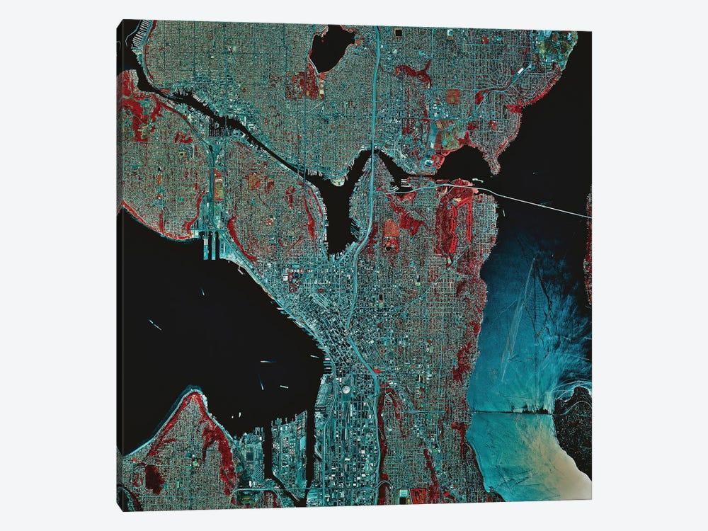 Seattle, Washington by Stocktrek Images 1-piece Canvas Art Print