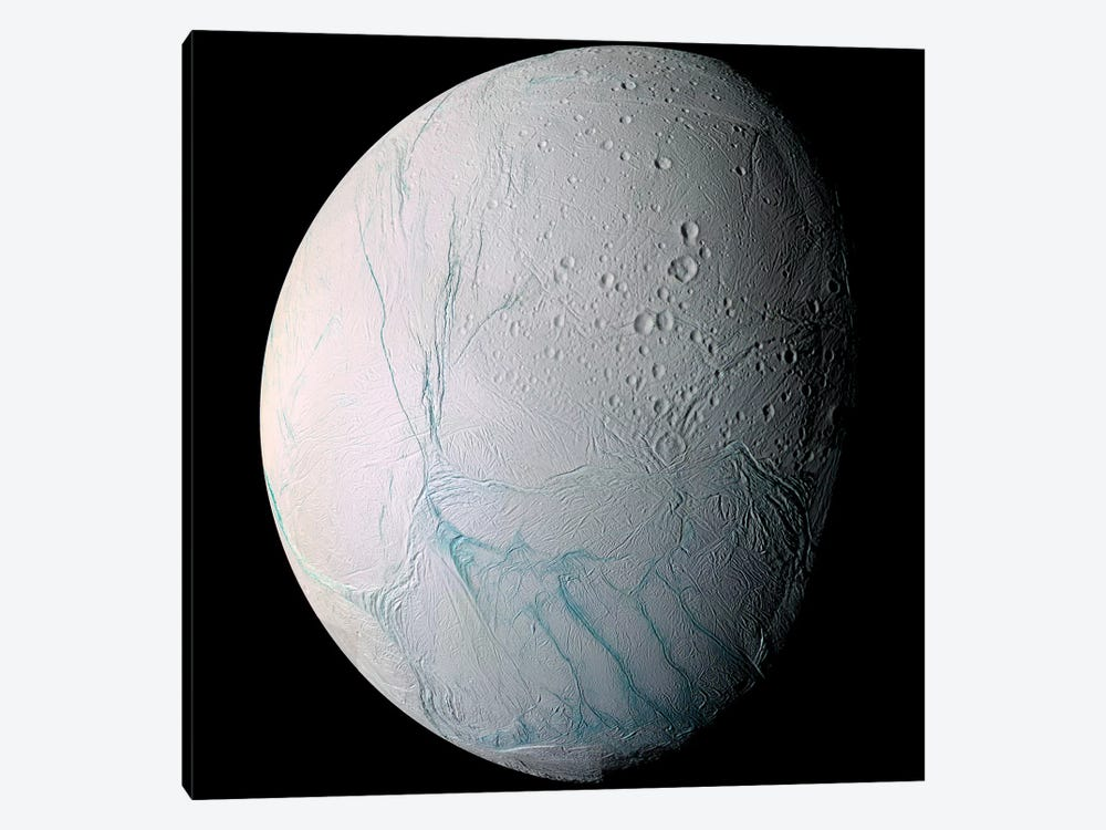 Saturn's Moon Enceladus I by Stocktrek Images 1-piece Art Print