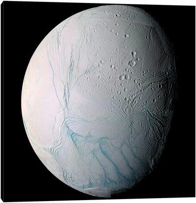 Saturn's Moon Enceladus I Canvas Art Print