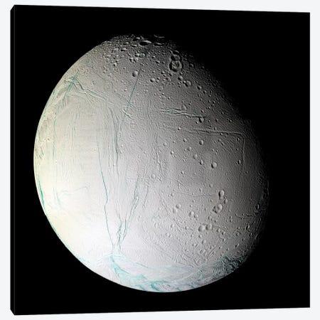 Saturn's Moon Enceladus II Canvas Print #TRK1645} by Stocktrek Images Canvas Art Print