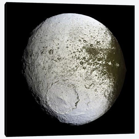 Saturn's Moon Iapetus Canvas Print #TRK1646} by Stocktrek Images Canvas Print