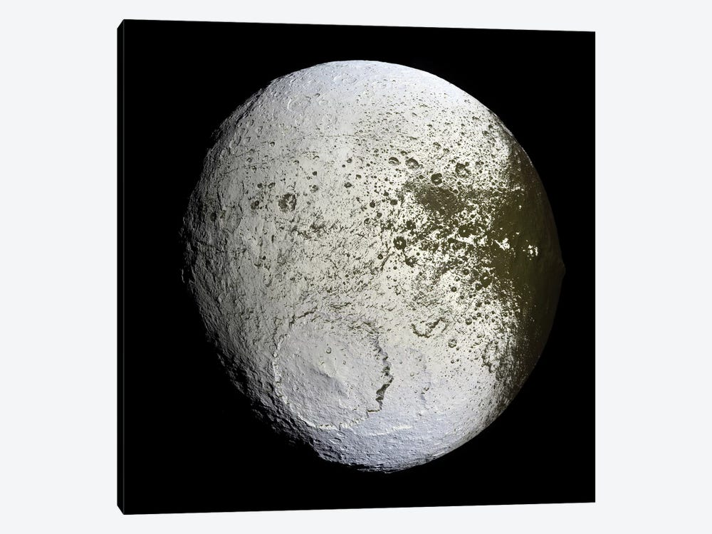 Saturn's Moon Iapetus by Stocktrek Images 1-piece Canvas Print