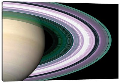 Saturn's Rings Canvas Art Print