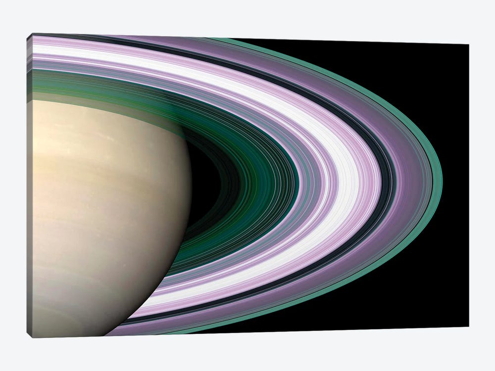 Saturn's Rings by Stocktrek Images 1-piece Canvas Art