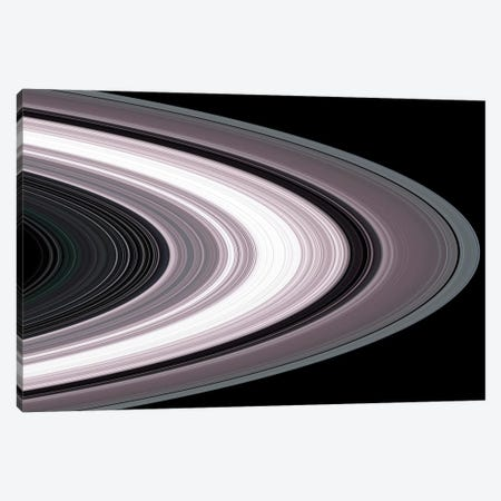 Small Particles In Saturn's Rings Canvas Print #TRK1652} by Stocktrek Images Canvas Art Print