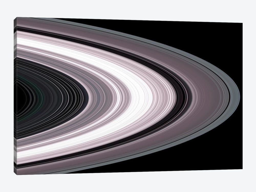 Small Particles In Saturn's Rings 1-piece Canvas Art