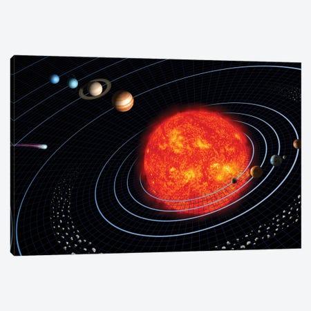 Solar System I Canvas Print #TRK1654} by Stocktrek Images Canvas Artwork