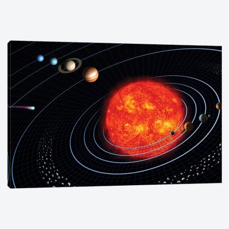 Solar System I Canvas Print #TRK1654} by Stocktrek Images Canvas Artwork