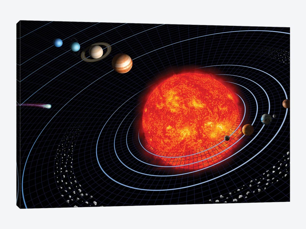 Solar System I by Stocktrek Images 1-piece Canvas Artwork