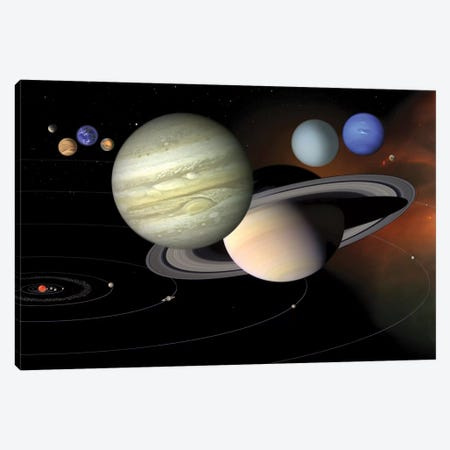 Solar System II Canvas Print #TRK1655} by Stocktrek Images Canvas Art
