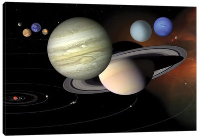 Solar System II Canvas Art Print