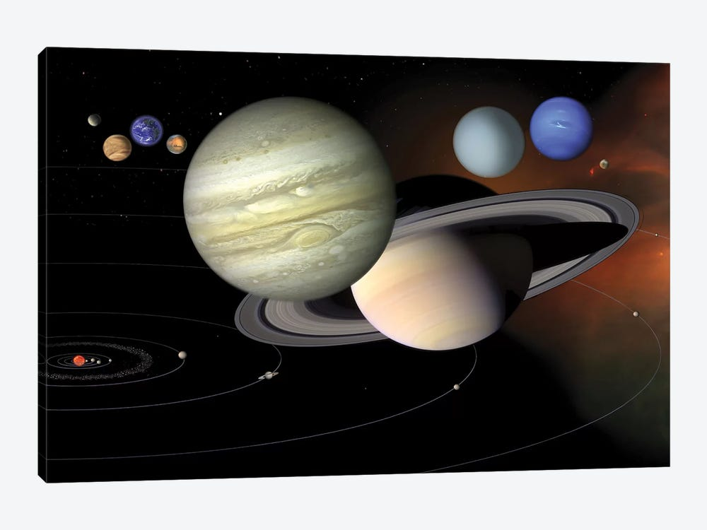 Solar System II by Stocktrek Images 1-piece Art Print