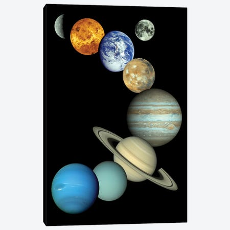 Solar System Montage Canvas Print #TRK1656} by Stocktrek Images Canvas Art