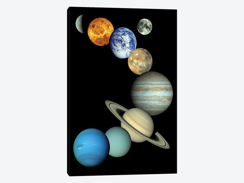 Solar System Montage by Stocktrek Images 1-piece Canvas Artwork