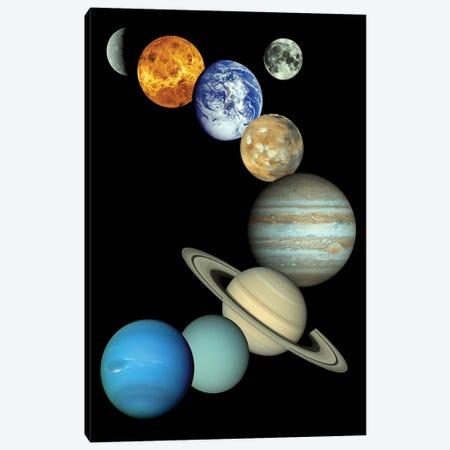 Solar System Montage Canvas Print #TRK1656} by Stocktrek Images Canvas Art