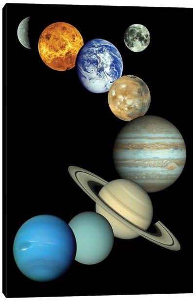 Solar System Montage Canvas Art Print