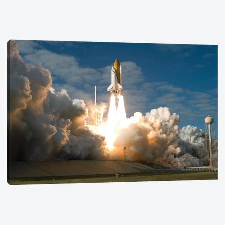 Space Shuttle Atlantis Lifts Off From Its Launch Pad At Kennedy Space Center, Florida II Canvas Print #TRK1661} by Stocktrek Images Canvas Art