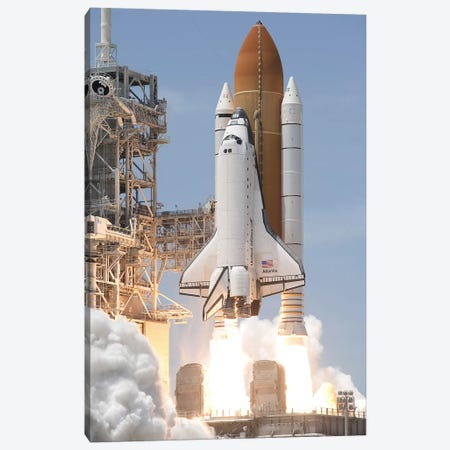 Space Shuttle Atlantis Lifts Off From Its Launch Pad At Kennedy Space Center, Florida V Canvas Print #TRK1664} by Stocktrek Images Canvas Print