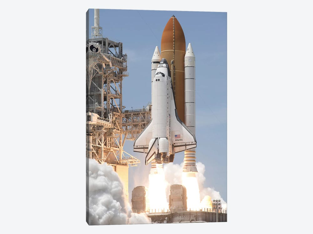 Space Shuttle Atlantis Lifts Off From Its Launch Pad At Kennedy Space Center, Florida V by Stocktrek Images 1-piece Art Print