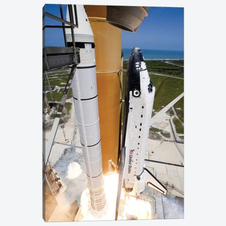 Space Shuttle Atlantis Lifts Off From Its Launch Pad At Kennedy Space Center, Florida VI Canvas Print #TRK1665} by Stocktrek Images Art Print