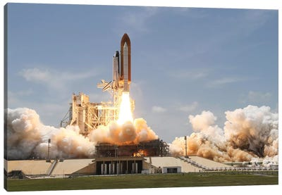 Space Shuttle Atlantis Lifts Off From Its Launch Pad At Kennedy Space Center, Florida VIII Canvas Art Print