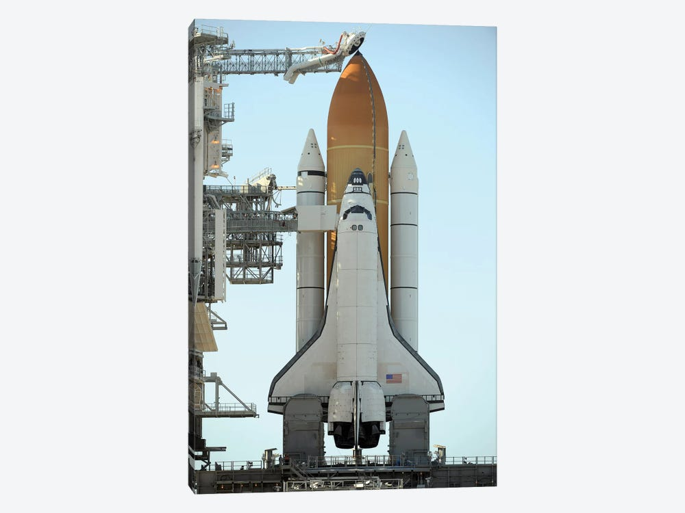 Space Shuttle Atlantis Sits Ready On Its Launch Pad At Kennedy Space Center, Florida I by Stocktrek Images 1-piece Canvas Print
