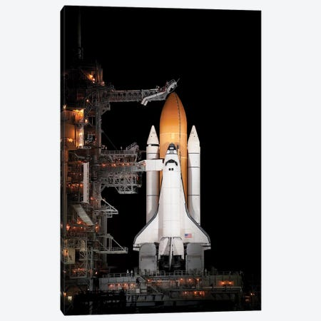 Space Shuttle Atlantis Sits Ready On Its Launch Pad At Kennedy Space Center, Florida II Canvas Print #TRK1669} by Stocktrek Images Canvas Art