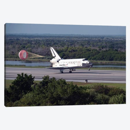 Space Shuttle Discovery Lands At Kennedy Space Center In Florida Canvas Print #TRK1670} by Stocktrek Images Canvas Print