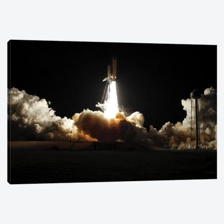 Space Shuttle Discovery Lifts Off From Its Launch Pad At Kennedy Space Center, Florida III Canvas Print #TRK1673} by Stocktrek Images Canvas Art Print