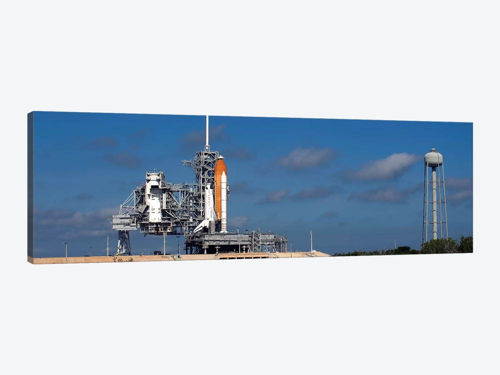 Space Shuttle Discovery Sits Ready On The Launch Pad At Kennedy Space Center by Stocktrek Images 1-piece Canvas Artwork