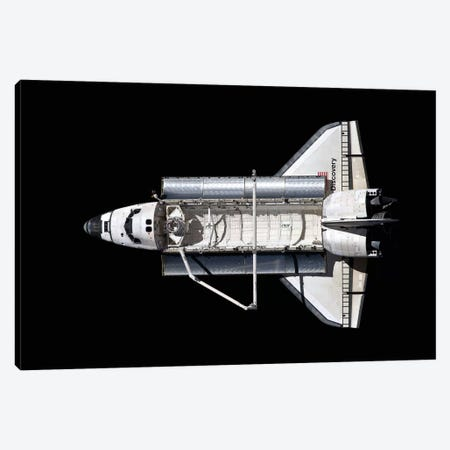 Space Shuttle Discovery, Above Canvas Print #TRK1675} by Stocktrek Images Canvas Wall Art