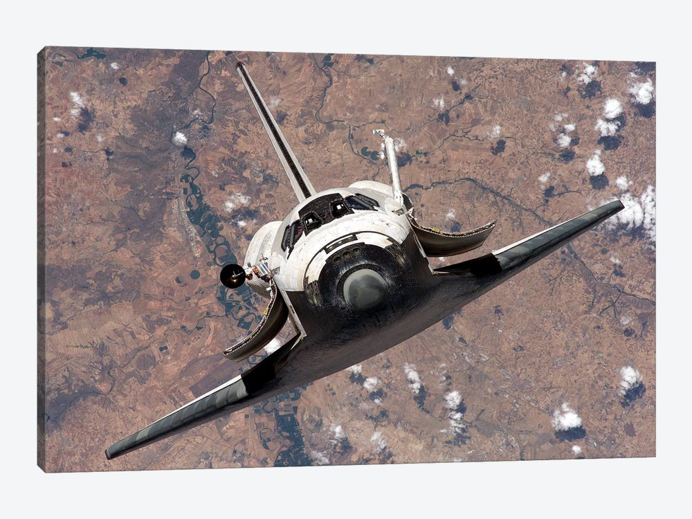 Space Shuttle Discovery, Front by Stocktrek Images 1-piece Canvas Wall Art