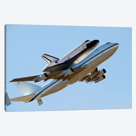 Space Shuttle Endeavour Mounted On A Modified Boeing 747 Shuttle Carrier Aircraft Canvas Print #TRK1686} by Stocktrek Images Art Print