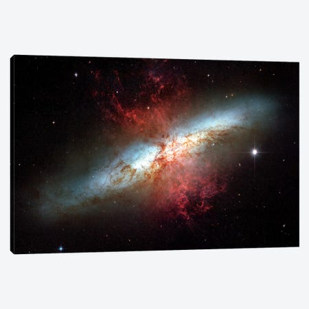 Starburst Galaxy, (M82) Canvas Print #TRK1695} by Stocktrek Images Canvas Artwork