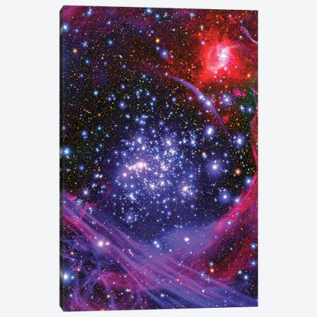 The Arches Star Cluster Deep Inside The Hub Of Our Milky Way Galaxy Canvas Print #TRK1705} by Stocktrek Images Canvas Wall Art
