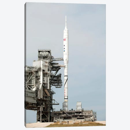 The Ares I-X Rocket Is Seen On The Launch Pad At Kennedy Space Center Canvas Print #TRK1706} by Stocktrek Images Canvas Art