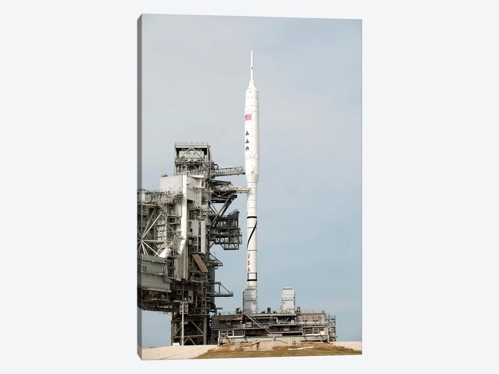 The Ares I-X Rocket Is Seen On The Launch Pad At Kennedy Space Center by Stocktrek Images 1-piece Canvas Art