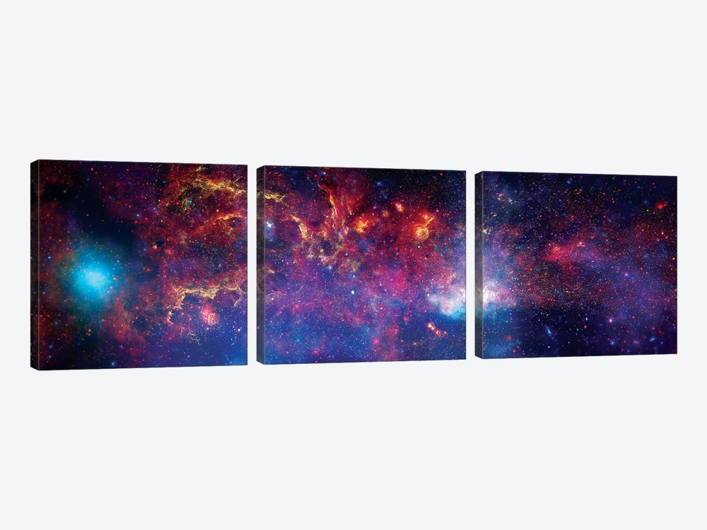 The Central Region Of The Milky Way Galaxy by Stocktrek Images 3-piece Art Print