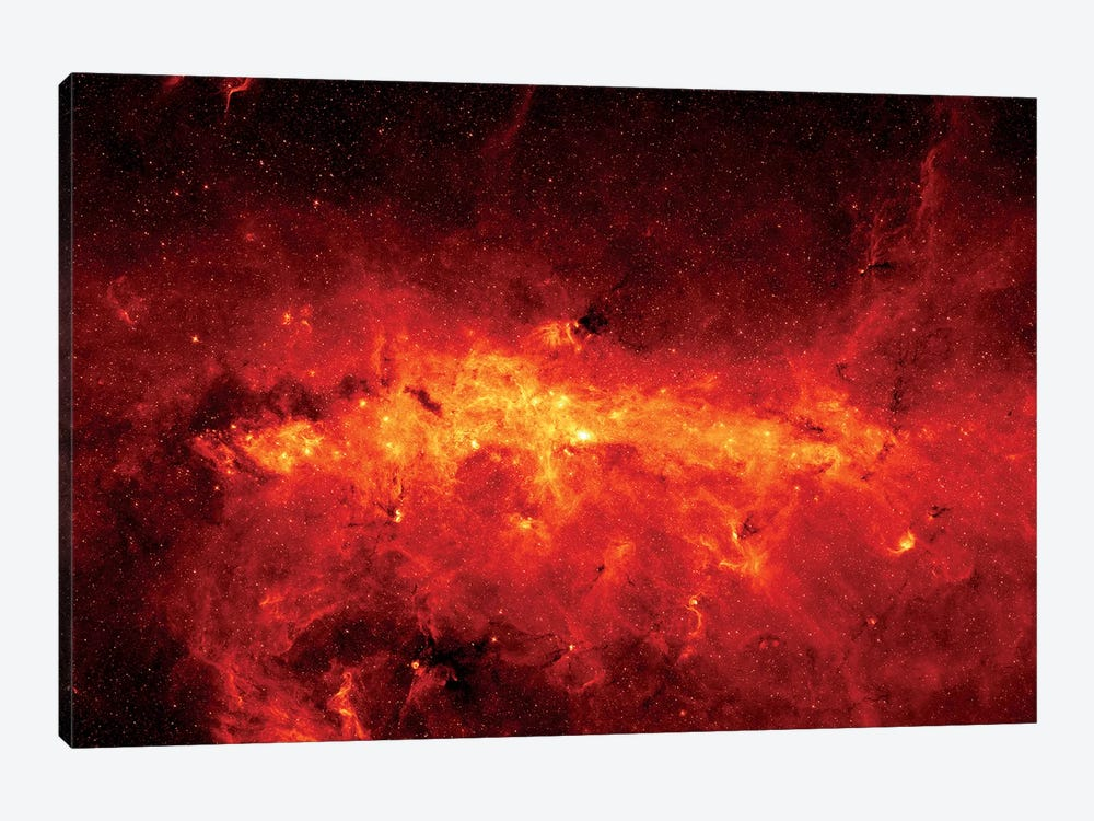 The Milky Way Center Aglow With Dust by Stocktrek Images 1-piece Canvas Print