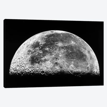 The Moon III Canvas Print #TRK1731} by Stocktrek Images Canvas Wall Art