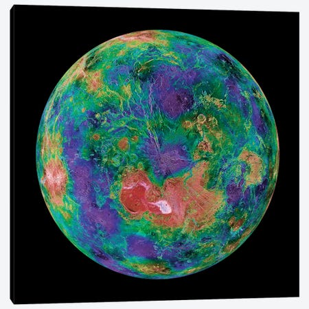 Venus Centered On The North Pole Canvas Print #TRK1754} by Stocktrek Images Art Print
