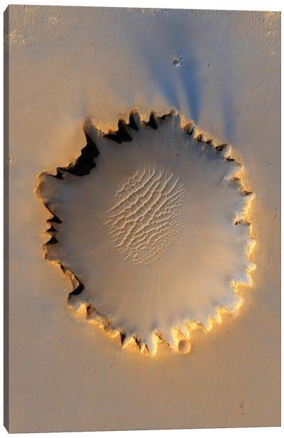 Victoria Crater On Mars Canvas Art Print
