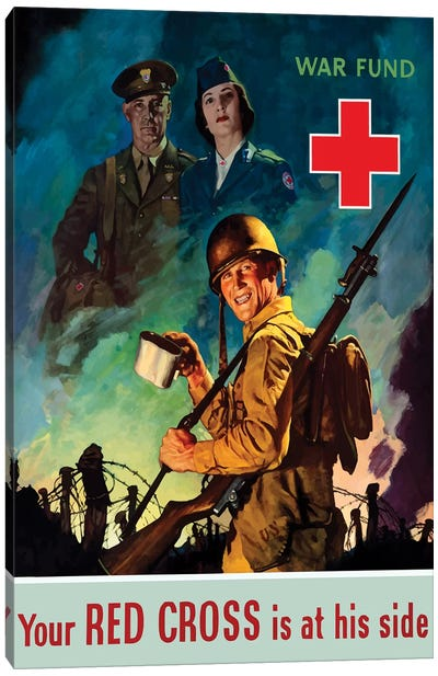 WWII Poster Red Cross Canvas Art Print