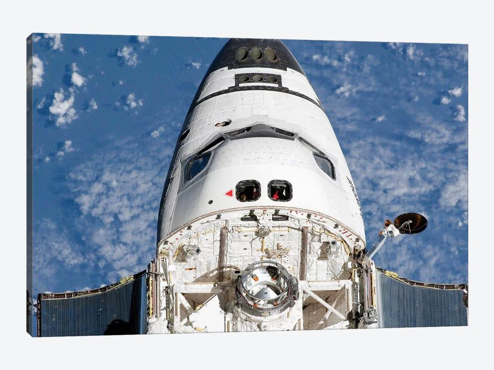 View Of Space Shuttle Endeavour's Crew Cabin And Forward Payload Bay by Stocktrek Images 1-piece Art Print