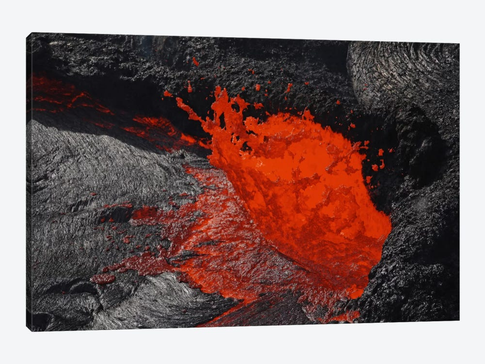 Erta Ale Fountaining Lava Lake, Danakil Depression, Ethiopia I by Martin Rietze 1-piece Canvas Print