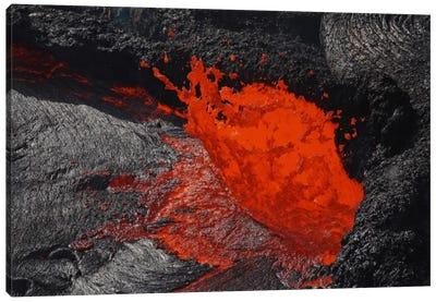 Erta Ale Fountaining Lava Lake, Danakil Depression, Ethiopia I Canvas Art Print