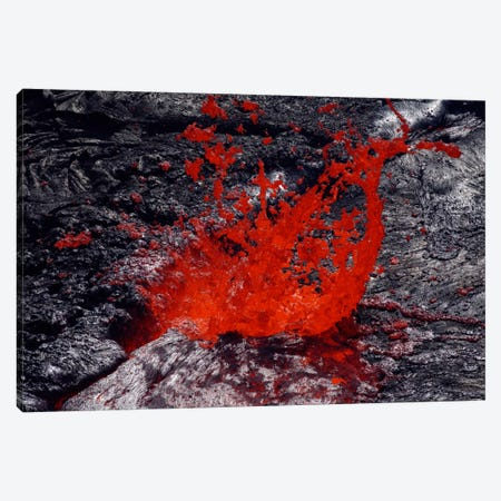 Erta Ale Fountaining Lava Lake, Danakil Depression, Ethiopia II Canvas Print #TRK1775} by Martin Rietze Canvas Art Print