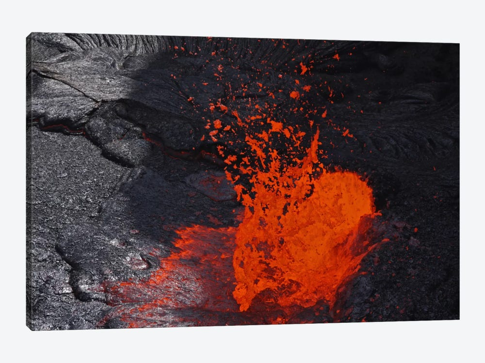 Erta Ale Fountaining Lava Lake, Danakil Depression, Ethiopia IV 1-piece Canvas Wall Art